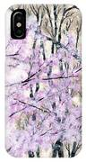 Cherry Blossoms In Spring Snow IPhone Case