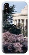 Cherry Blossoms Jefferson Memorial IPhone Case