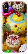 Cherry Teapot And Cupcakes IPhone Case