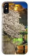 Cherry Blossom Temple Boat IPhone Case