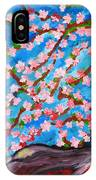Cherry Tree In Blossom  IPhone Case
