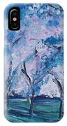 Cherry Trees Impressionism IPhone Case