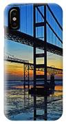 Chesapeake Bay Bridge Reflections IPhone Case by Bill Swartwout Photography