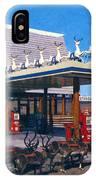 Chevron Gas Station At Santa's Village With Reindeer And Carl Hansen IPhone Case