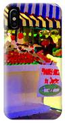 Chez Nino At Marche Jean Talon Montreal A Taste Of Culinary Culture  Food Art Scenes Carole Spandau  IPhone Case