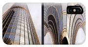Chicago Abstract Before And After Sunrays On Trump Tower 2 Panel IPhone Case