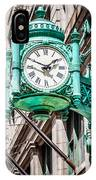 Chicago Clock On Macy's Marshall Field's Building IPhone Case