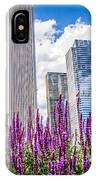 Chicago Downtown Buildings And Spring Flowers IPhone Case