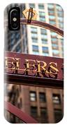 Chicago Jewelers Row Sign  IPhone Case