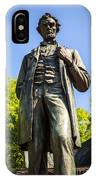 Chicago Lincoln Standing Statue Named The Man IPhone Case