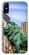Chicago Lion Statues At The Art Institute IPhone Case