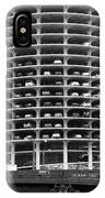 Chicago Marina City Parking Bw IPhone Case