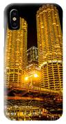 Chicago Marina City Towers At Night Picture IPhone Case