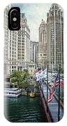 Chicago Michigan Avenue V Hdr Textured IPhone Case