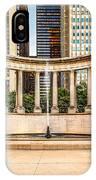 Chicago Millennium Monument In Wrigley Square IPhone Case