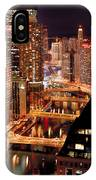 Chicago River At Night IPhone Case