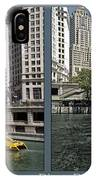 Chicago River Boat Rides 2 Panel IPhone Case