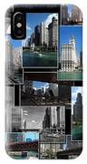 Chicago River Walk Collage IPhone Case