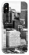 Chicago Skyline Aerial Panorama Photo IPhone Case