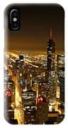 Chicago Skyline At Night I IPhone Case