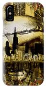 Chicago Skyline Drawing Collage 3 IPhone Case