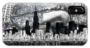 Chicago Skyline Drawing Collage IPhone Case