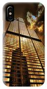 Chicago Tall Shoulders Trump Sears 333 W Wacker Triptych 3 Panel 01 IPhone Case
