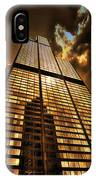 Chicago Tall Shoulders Trump Sears Tribune Triptych 3 Panel 01 IPhone Case