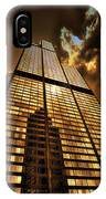 Chicago Tall Shoulders Trump Sears Tribune Triptych 3 Panel 02 IPhone Case