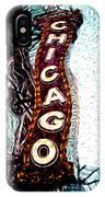 Chicago Theatre Sign Digital Art IPhone Case