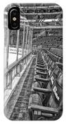 Chicago United Center Before The Gates Open Blackhawk Seat One Bw Hdr IPhone Case