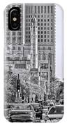 Chicago Water Tower Beacon Black And White IPhone Case