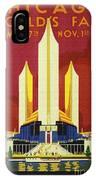 Chicago World Fair A Century Of Progress Expo Poster  1933 IPhone Case