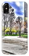 Chicago's Jane Addams Memorial Park From The Series The Imprint Of Man In Nature IPhone Case
