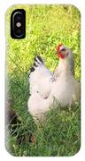 Chickens In Tall Grass IPhone Case