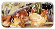 Chickens In The Hedge II IPhone Case