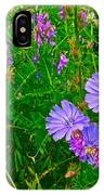 Chicory And Purple Vetch Along Rivier Du Nord Trail In Laurentians-quebec IPhone Case