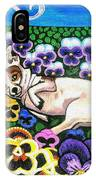 Chihuahua In Flowers IPhone Case