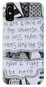 Child Of The Universe IPhone Case