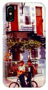 Childhood Montreal Memories Balconies And Bikes The Boys Of Summer Our Streets Tell Our Story IPhone Case