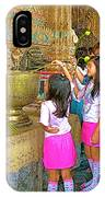 Children Bring Lotus Flowers To Royal Temple At Grand Palace Of Thailand IPhone Case