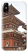Children On Pagodas In Bhaktapur Durbar Square In Bhaktapur-nepal IPhone Case