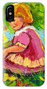 Children's Art - Little Girl With Puppy - Paintings For Children IPhone Case