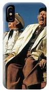 Chill Wills And Andy Devine Singing Atop A Stagecoach Old Tucson Arizona 1971 IPhone Case