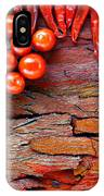 Chilli And Tomato On Rustic Background IPhone Case