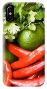 Chillies And Limes IPhone Case