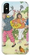 China  Women On A Communal  Farm Form IPhone Case