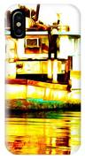 Chincoteague Boat Reflections IPhone Case