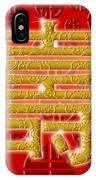 Chinese Birthday Longevity Golden Calligraphy Symbol Red IPhone Case