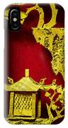 Chinese Cork Carving 2 IPhone Case